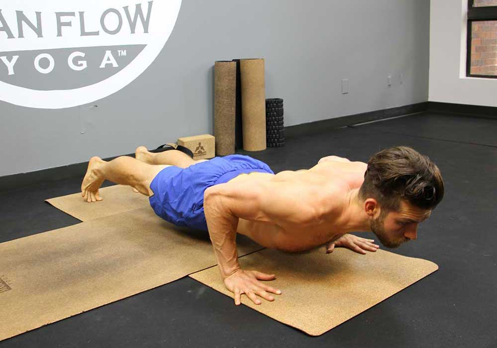 controlled low-plank hold