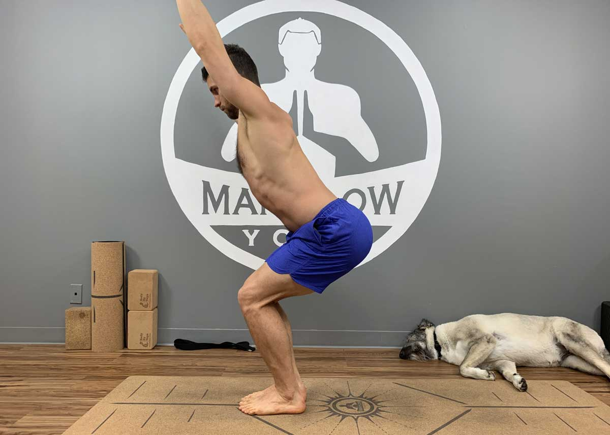 Yoga for Back Decompression - Chair Pose