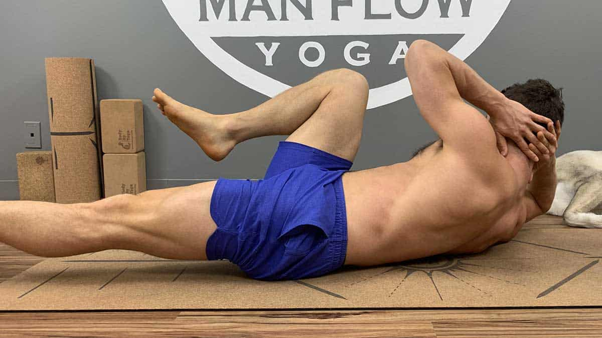 Yoga for Spinal Decompression - Supine Bicycle - Back view