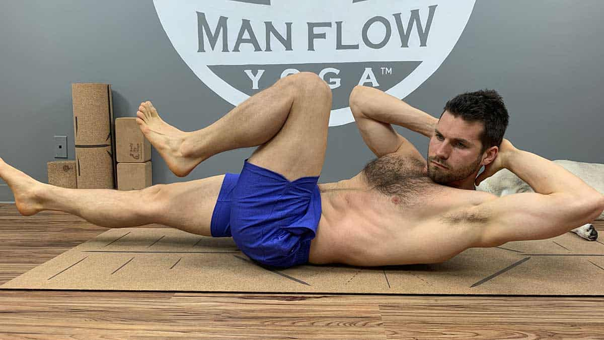 Yoga for Spinal Decompression - Supine Bicycle - Front view