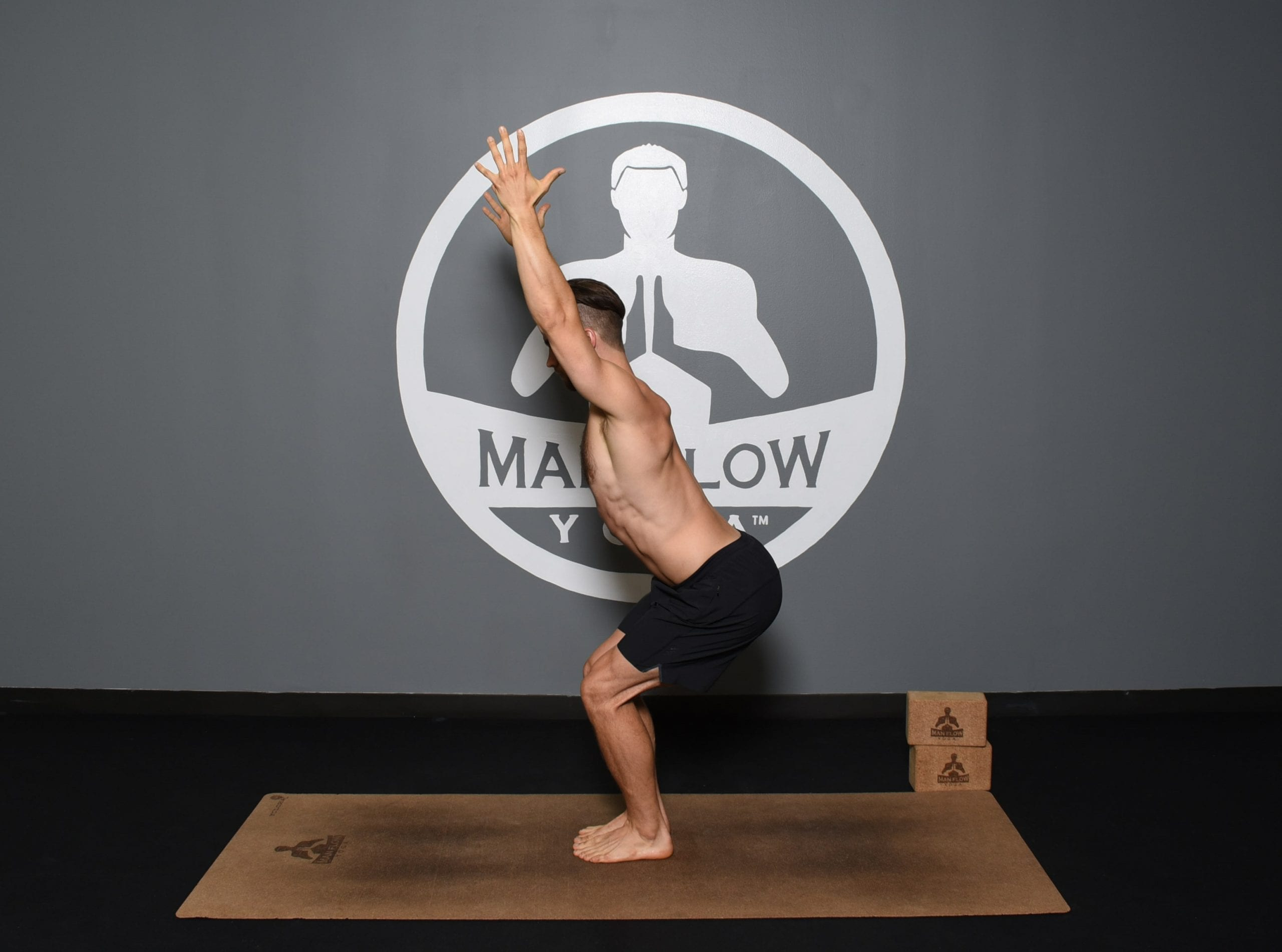 Yoga for Obesity - Chair Pose Hands Above