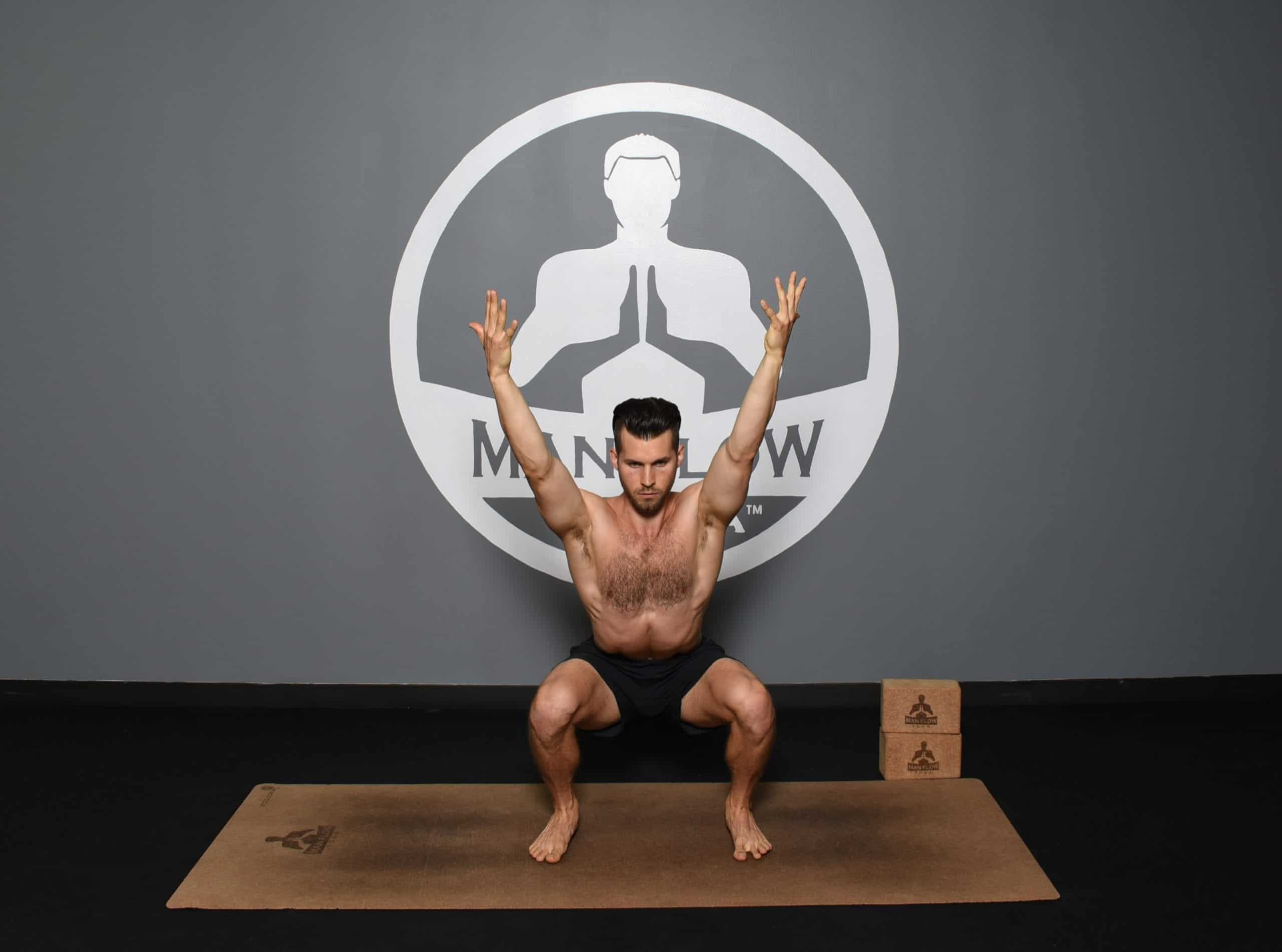 Morning Yoga Poses for Energy - Deep Squat